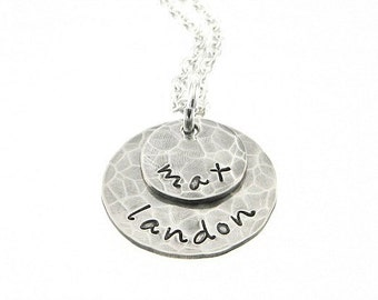 Layered Personalized Necklace - Hand Stamped Jewelry