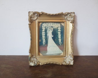Homely 60s Framed Wedding Photo, Hidden Van Gogh Print
