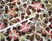 SALE Rober Kaufman JAPANESE Satsuki Fabric Yardage Metallic Floral Cotton