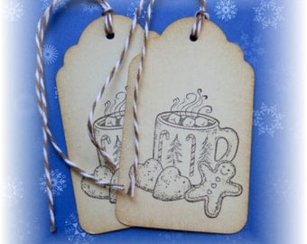 Hot Cocoa & Gingerbread cookie Tags (8)