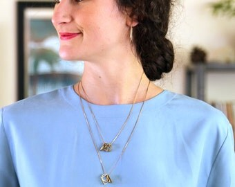 Lunette Geometric Necklace