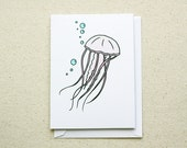 Pink Jellyfish Note Card