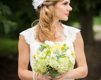 Fascinator, Wedding Headpiece, Bridal Headpiece, Bridal Fascinator, Wedding Fascinator, 1920s Headpiece, Gatsby Headpiece, Birdcage Veil