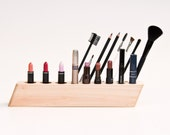Cosmetic Makeup Organizer Wood Countertop Organizer Brush Holder SCARLETT