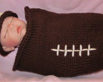 Football Baby Cocoon, Baby Cocoon, Baby Football Cocoon, Football Baby Saque, Baby Boy Football Set, Baby Gift Set, Baby Football Hat