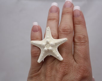 Starfish Ring Ocean Jewelry, Beach Wedding, Mermaid Jewelry Mermaid Ring, Beach Jewelry, Nautical Jewelry Nautical Ring Starfish Jewelry 003