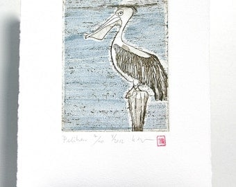 Pelican - Original Etching