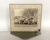 Vintage Photograph - Western Union School, Washington, NJ Class of 1945, Signed Black and White Matted & Mounted in Original Folder Frame