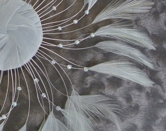 Gray Feather Trim - Stripped Hackle Feathers to Accent your Fascinator