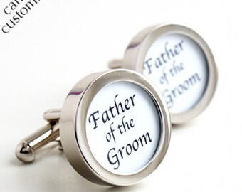 Father of the Groom Cufflinks Wedding Cufflinks PC187