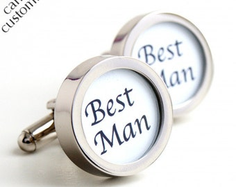 Best Man Cufflinks Classic Wedding Cufflinks for your Wedding Party Personalised Wedding