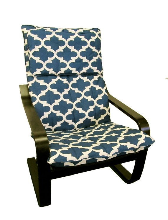 Slipcover for ikea poang chair in cadet fynn from knesting for Housse fauteuil ikea