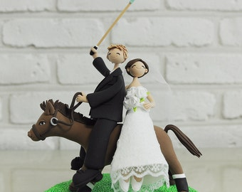 Polo couple custom wedding cake topper decoration gift