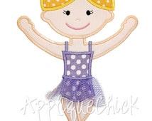 Ballerina Applique Design