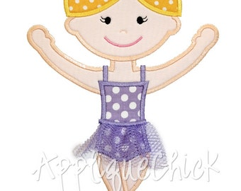 Ballerina Applique Design