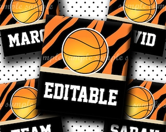 INSTANT DOWNLOAD Editable JPG Basketball (654) 4x6 Digital Collage Sheet 0.75 inch x 0.83 inch (scrabble size) for scrabble tiles ..