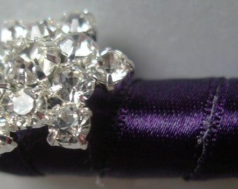 Winter Wedding Guest Book Pen w/Snowflake Rhinestone- (Custom Colors Available)