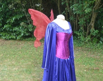 Cherry Fire RED Glittering Spirit Pixie Fairy WINGS Pirate Gypsy costume dress up Adult Child xs elf Butterfly love cosplay festival larp