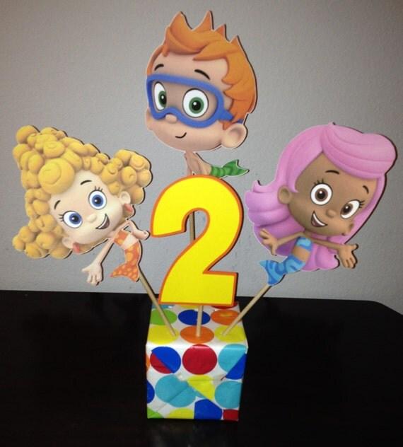Bubble guppies centerpiece picks 4 pieces by your party spot catch my party - Bubble guppies center pieces ...