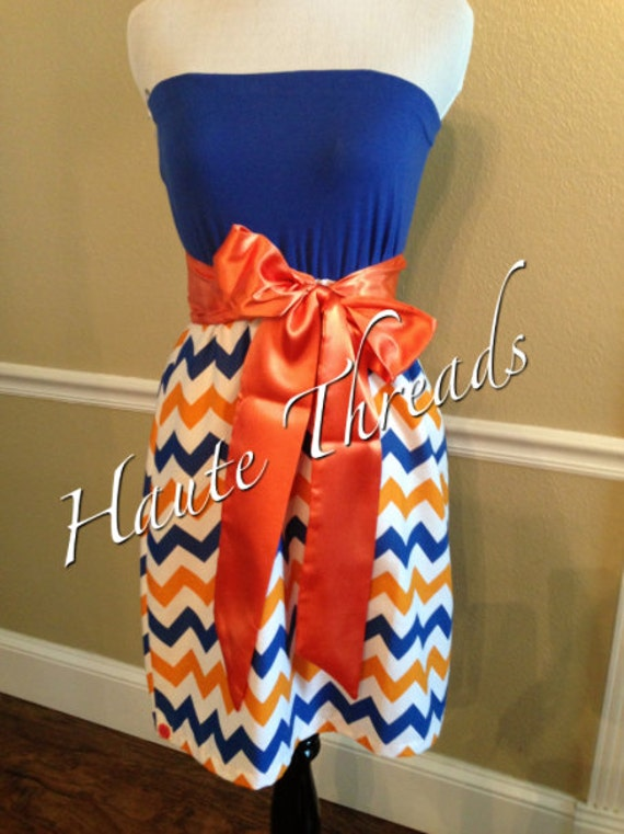 University of Florida GATORS White Orange & Blue CHEVRON