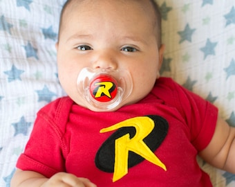 ROCKIN' ROBIN Custom Hand Painted Pacifier by PiquantDesigns