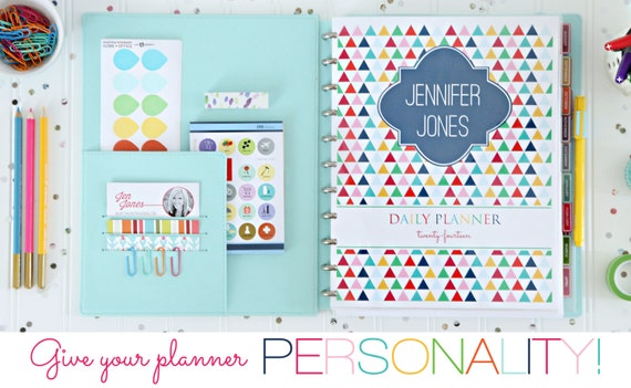 Personalized daily planner coversheet printable for Custom photo planner