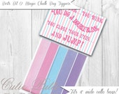 Mary Poppins Vintage Party - PRINTABLE FAVOR BAG Toppers - Cutie Putti Paperie