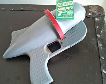 Vintage Nu-Age Smoke Ring Gun - 50s Toy Space Gun