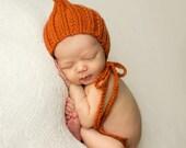Newborn Midtown Ribbed Pixie || pumpkin hat photography prop baby boy baby girl