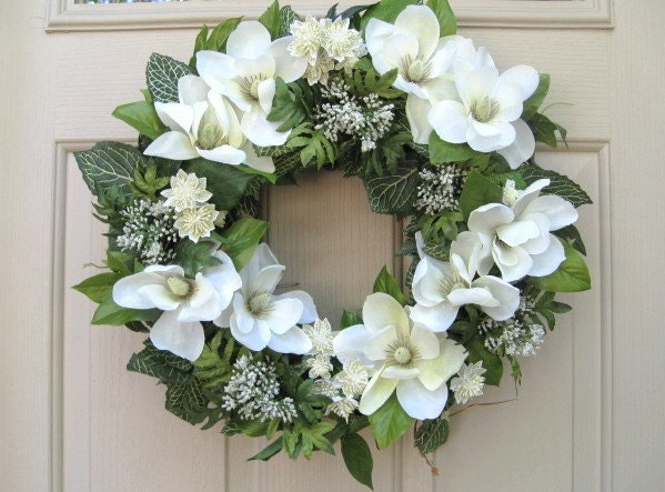 White Rag Wreath