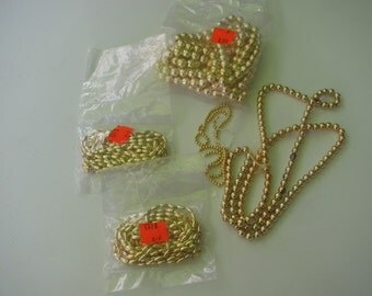 Gold Beads Lot Round and Oblong