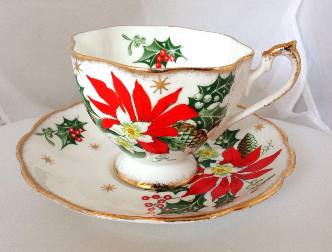Queen Anne Noel Fine Bone China Teacup Amp Saucer Set