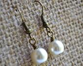 Ivory Pearls . Earrings