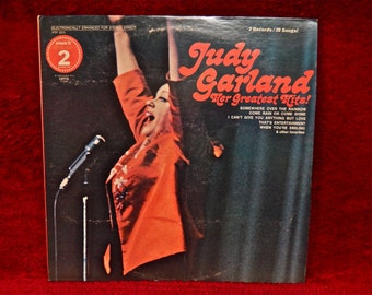 JUDY GARLAND - Her Greatest Hits - 1970s Vintage Vinyl 2 lp Gatefold Record Album