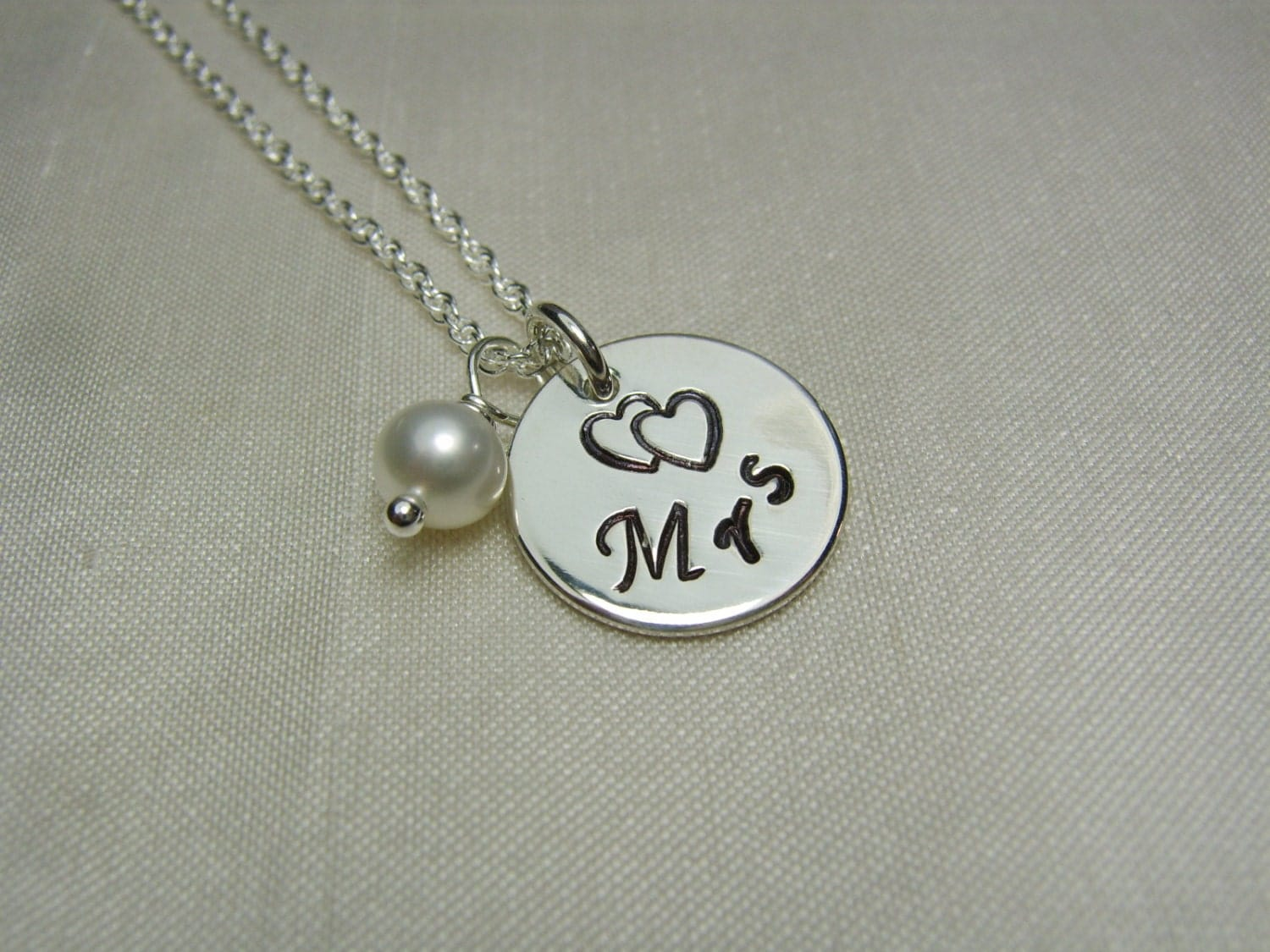 Personalised Wedding Jewellery Gifts : Bridal Jewelry Personalized Necklace Bridal by MesmericJewelry