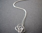 Simple Silver Necklace / Love Knot Necklace / Bridesmaid Gift Jewelry / dainty, everyday, simple, birthday, wedding, bridesmaid jewelry
