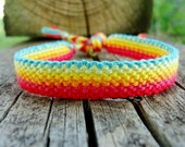 Rainbow Road Friendship Bracelet