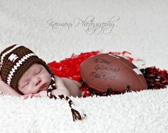 Baby Boy Football Hat - Baby Boy Hat - Newborn Boy Hats - Newborn Football Hats - Baby Hats - Boy Hats- Infants Hats - ON SALE -  Photo Prop