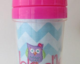Personalized Owl Sippy Cup or Sippy Cup Set