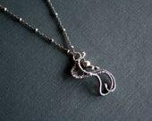 Fine Silver Swirl Design Necklace - Wire Wrapped Necklace - Fine Silver jewelry