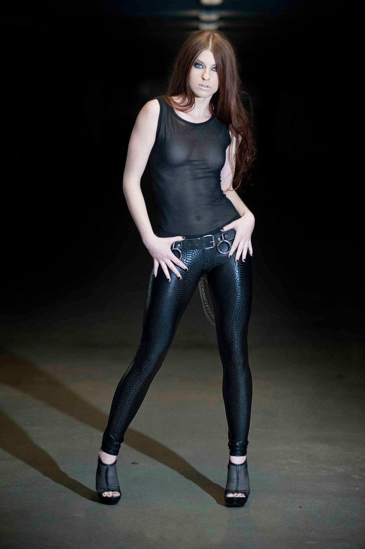 Black Snake Print Leggings Spandex Pants Dance & Yoga Wear