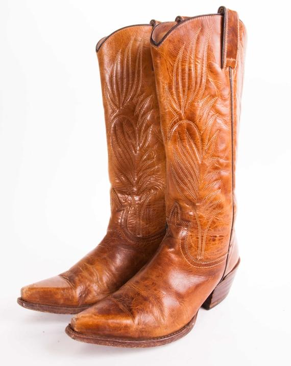 tall steve madden cowboy boots womens size 7 5