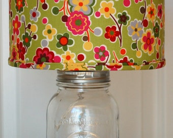 Faux Antique Mercury Glass Mason Jar Lamp With By