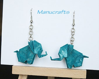 origami elephant mobile elephant mobile baby mobile by manucrafts. Black Bedroom Furniture Sets. Home Design Ideas