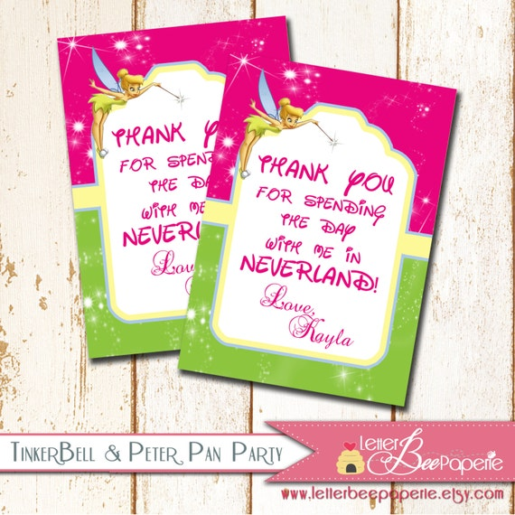 Items Similar To Custom Tinkerbell Gift Tags / Favor Tags