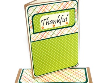 CLEARANCE-Thankful Card with Matching Embellished Envelope
