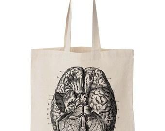Anatomy Human Brain Canvas Tote Bag