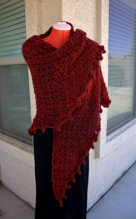 Crochet Patterns Shawls And Wraps : Boucle Crochet Shawl PATTERN Easy Crochet Shawl by ...
