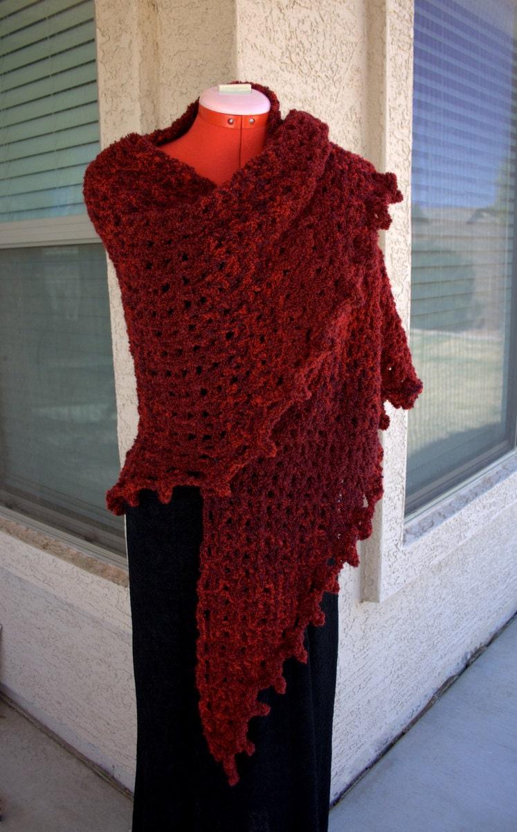 PDF DIGITAL PATTERN:Boucle Crochet Shawl Pattern Easy Crochet