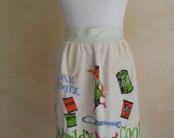 50s Terry Kitchen Apron - World's Best Cook